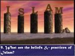 9 what are the beliefs practices of islam