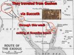 they traveled from goshen