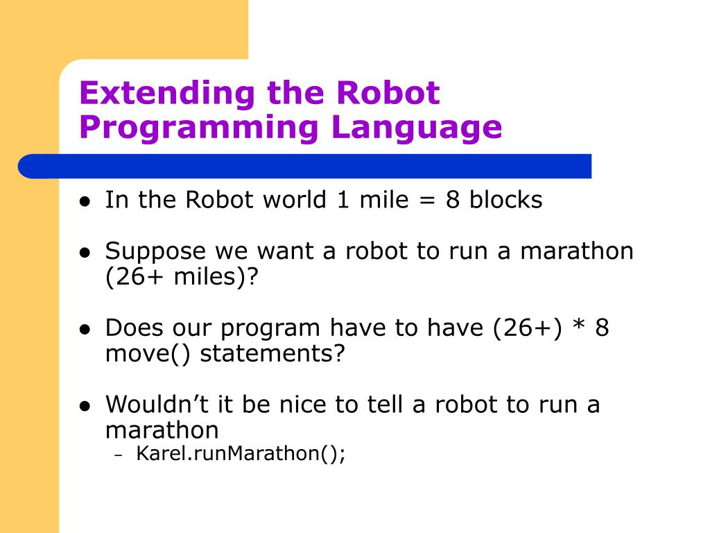 extending the robot programming language l.