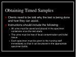 obtaining timed samples8