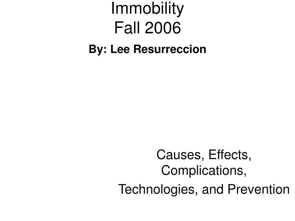 causes effects complications technologies and prevention l.
