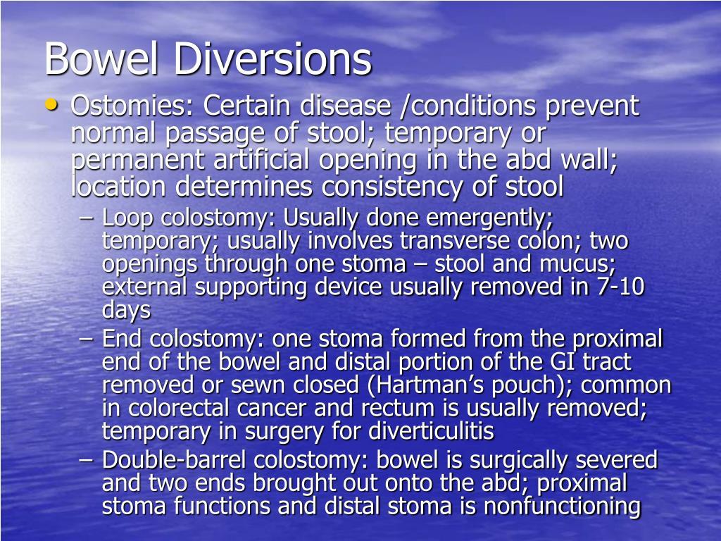 Bowel Diversions