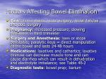 factors affecting bowel elimination5
