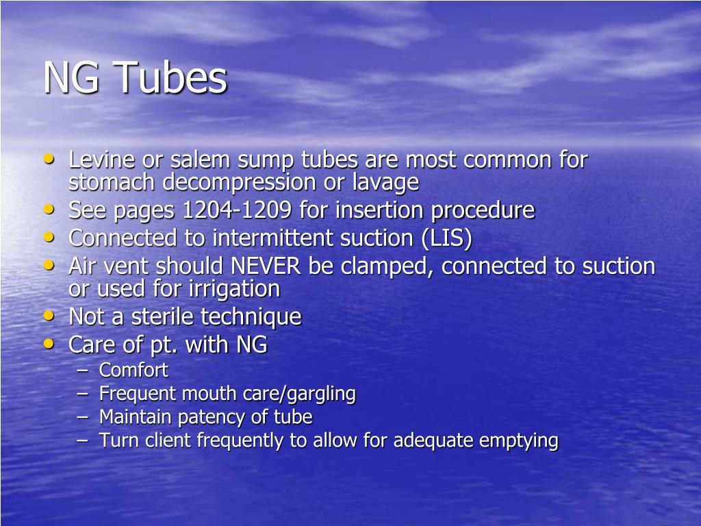 NG Tubes