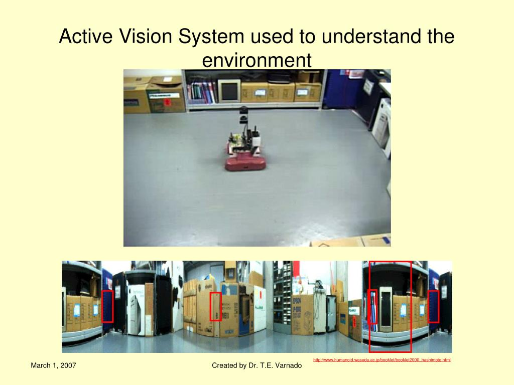 Active Vision System used to understand the environment