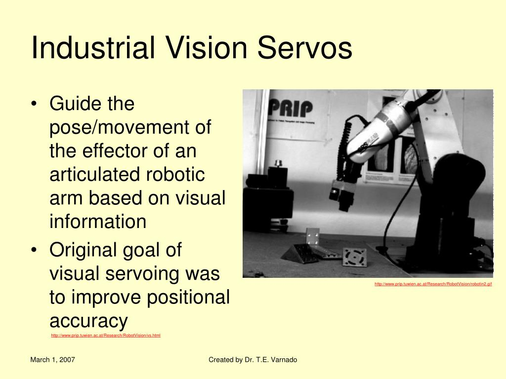Industrial Vision Servos
