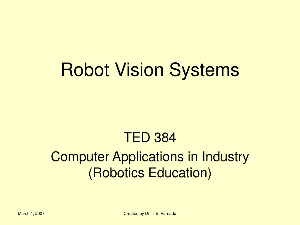robot vision systems l.
