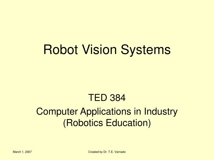 Robot vision systems