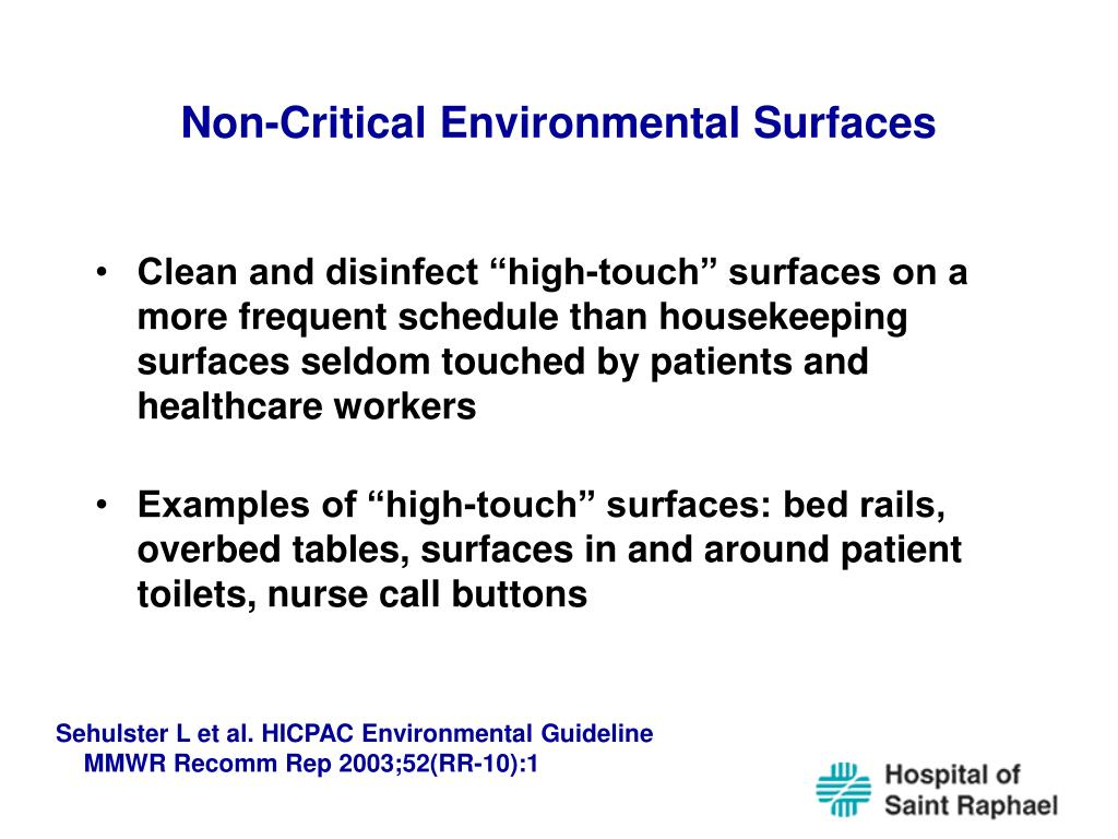 Non-Critical Environmental Surfaces