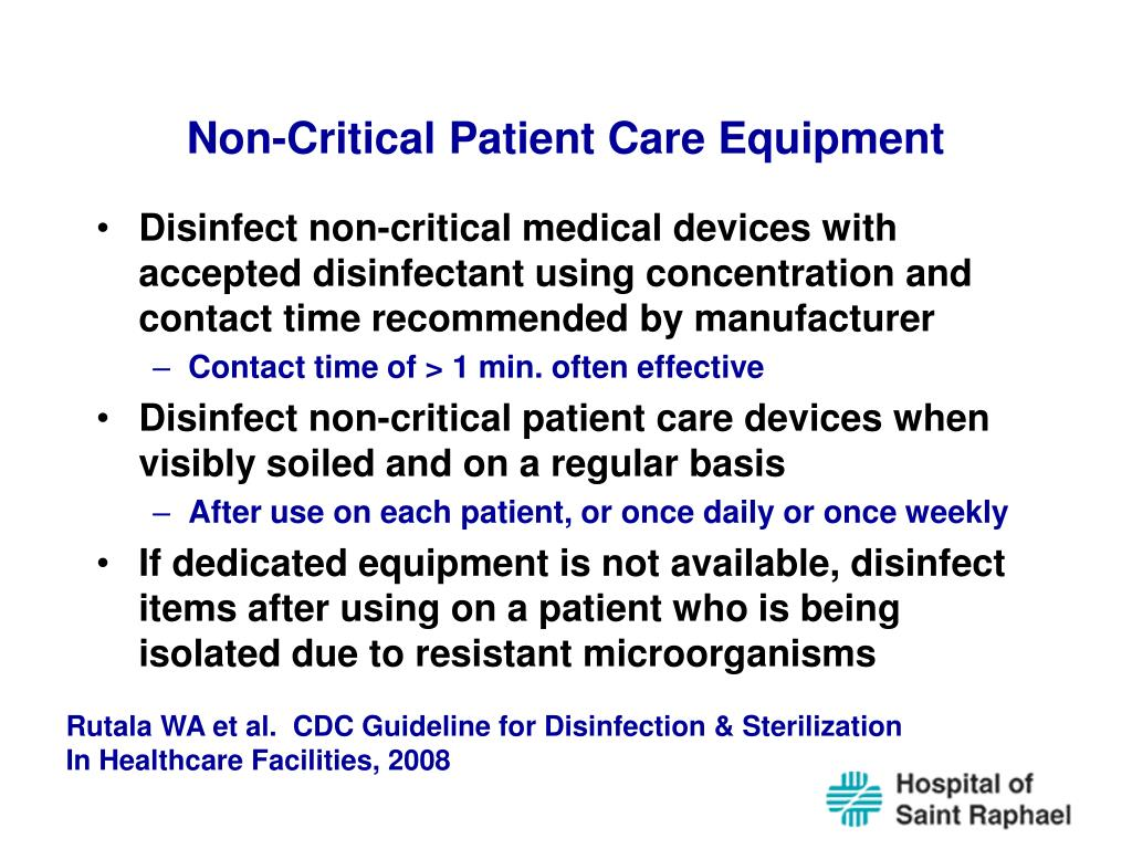 Non-Critical Patient Care Equipment