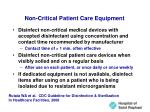 non critical patient care equipment