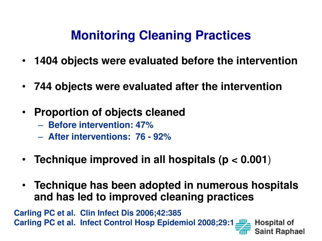 Monitoring Cleaning Practices