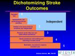 dichotomizing stroke outcomes