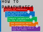how to paraphrase