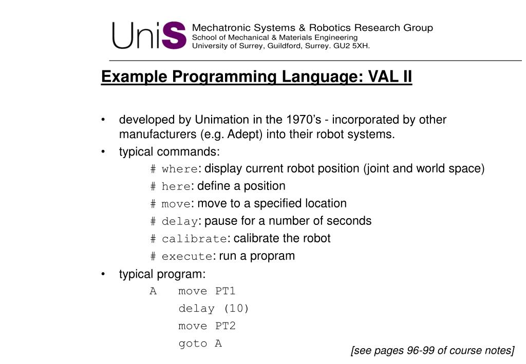 Example Programming