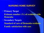 nursing home survey