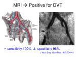 mri positive for dvt