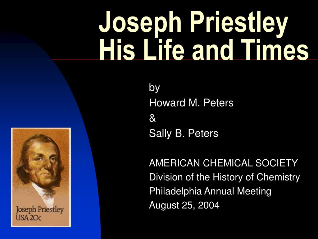 joseph priestley his life and times l.