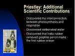 priestley additional scientific contributions