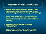 benefits of well grouting