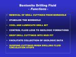 bentonite drilling fluid functions
