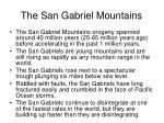 the san gabriel mountains