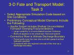 3 d fate and transport model task 3