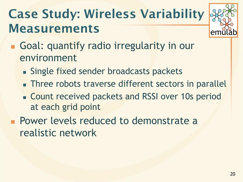Case Study: Wireless Variability Measurements