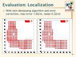 evaluation localization