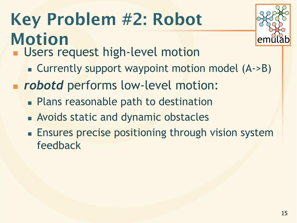 Key Problem #2: Robot Motion