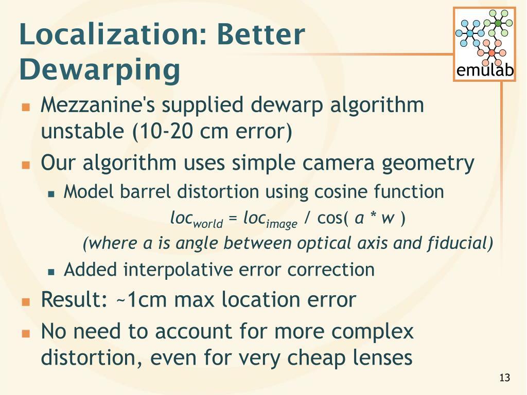 Localization: Better Dewarping