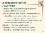 localization better dewarping