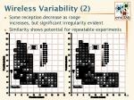 wireless variability 2