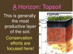 a horizon topsoil27