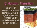 c horizon transition
