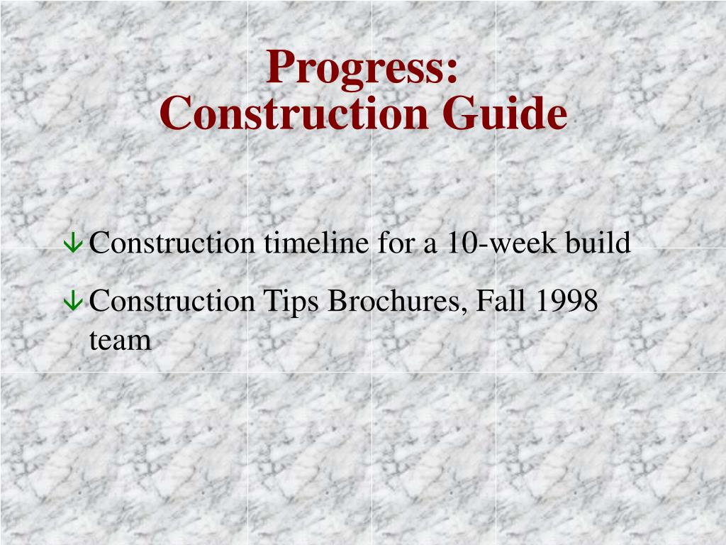 Progress: