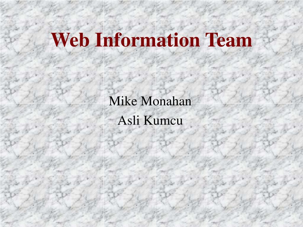 Web Information Team