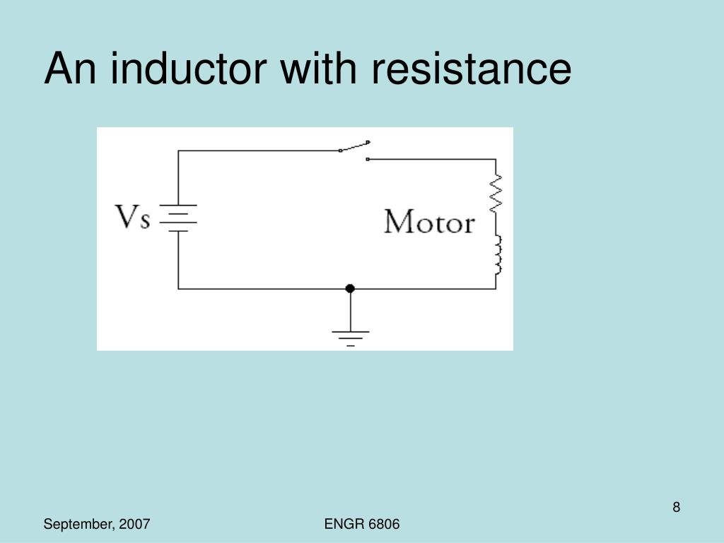 An inductor with resistance