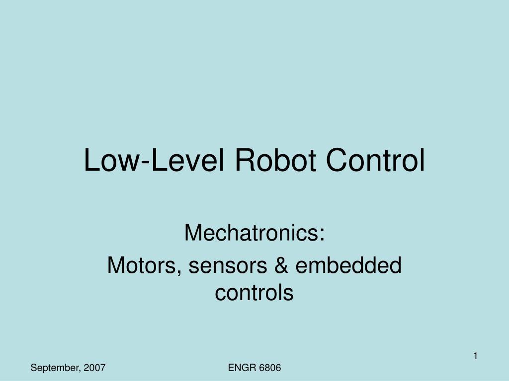 low level robot control l.