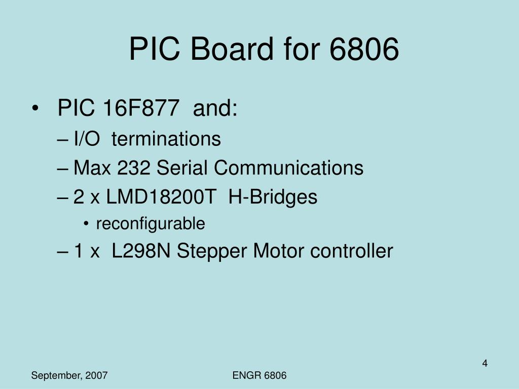 PIC Board for 6806