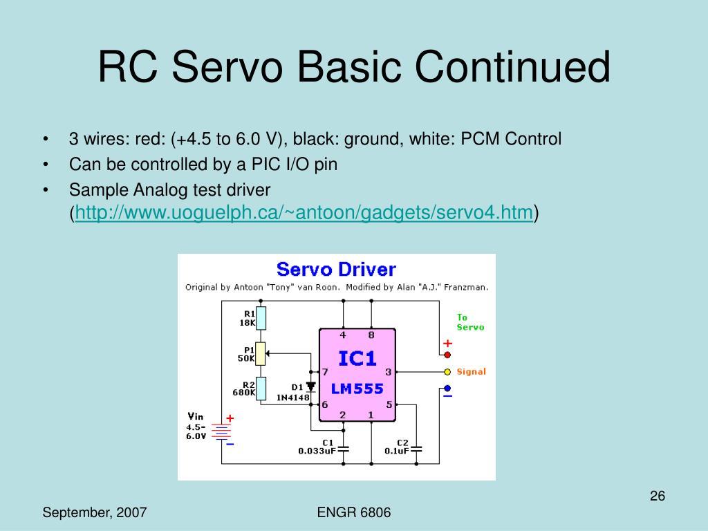 RC Servo Basic Continued