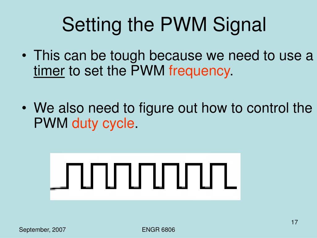 Setting the PWM Signal