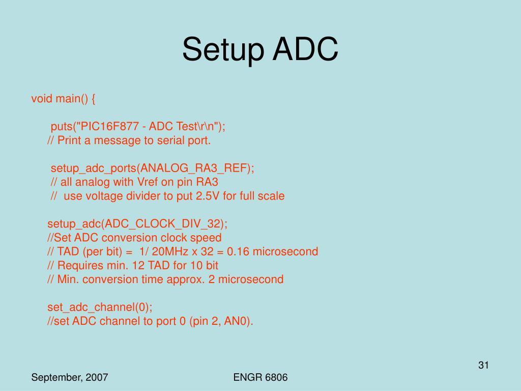 Setup ADC