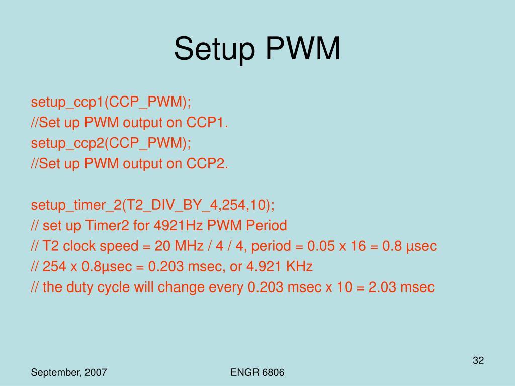 Setup PWM