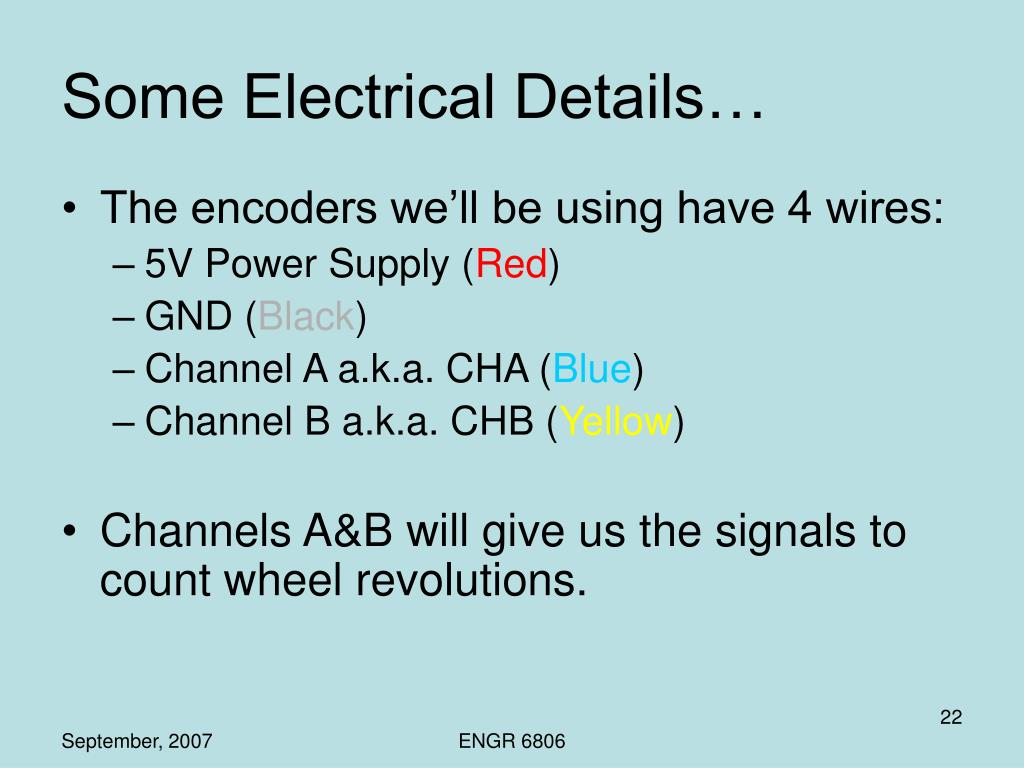 Some Electrical Details…