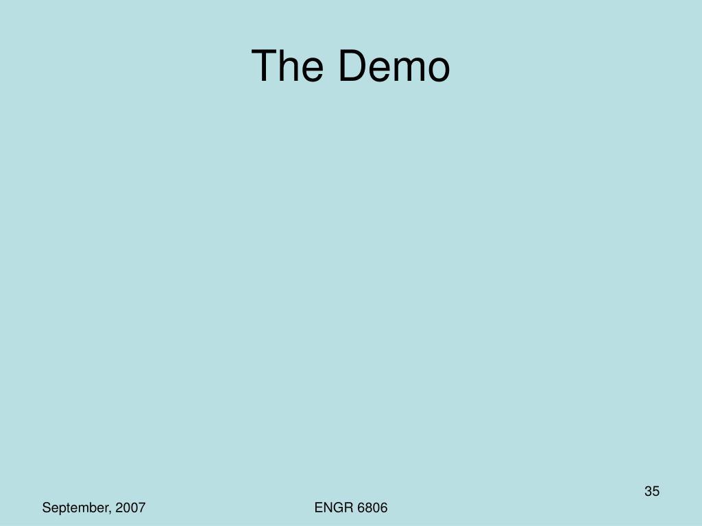 The Demo