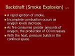 backdraft smoke explosion 1 of 2