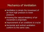 mechanics of ventilation