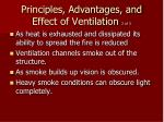 principles advantages and effect of ventilation 2 of 3
