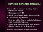 parricide mental illness 1
